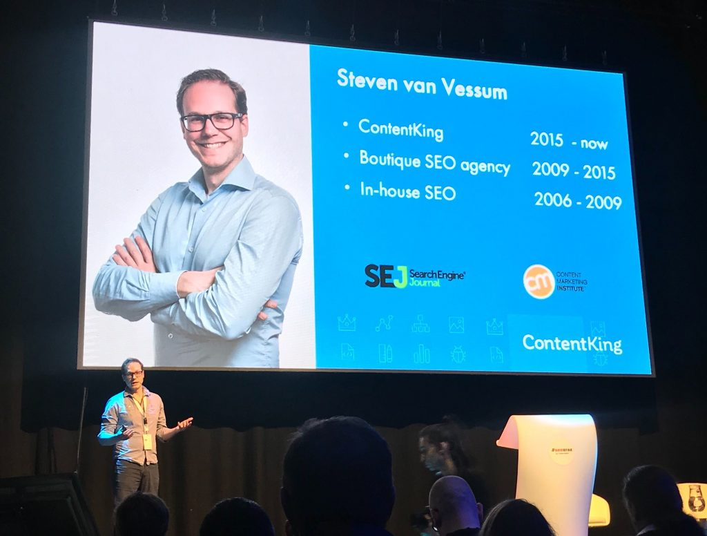 Steven van Vessum on stage at SEO zraz on February 2020 in Bratislava