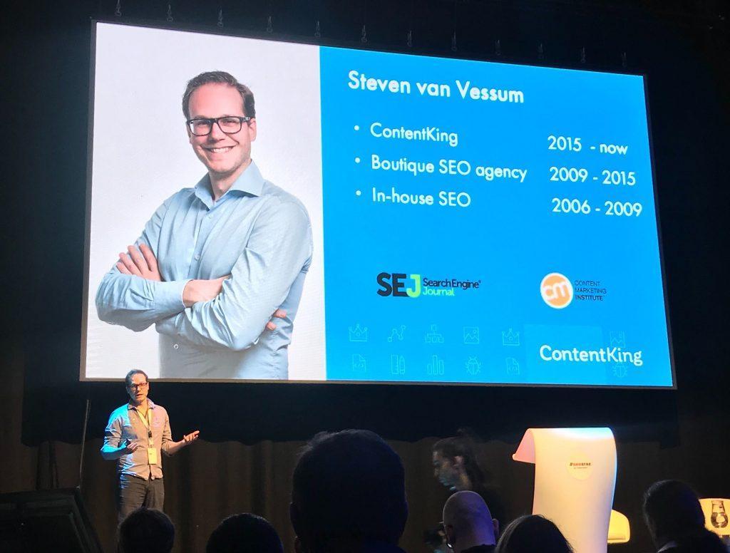 Steven van Vessum on stage at SEO zraz on February 2020 in Bratislava
